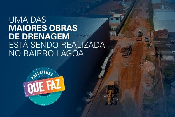 Moradores do bairro Lagoa recebem obras de drenagem da Prefeitura